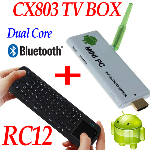 US $74 0 |CX803 RK3066 mini pc dual core google hdmi wifi xbmc android tv  box stick+Fly Air Mouse 2 4G Wireless Keyboard remote control-in Set-top
