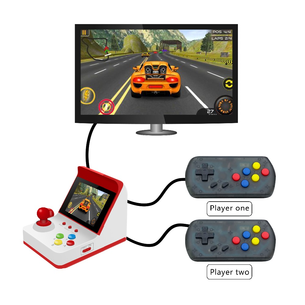 ANBERNIC 2019 Retro Mini Handheld Video Game Console 3Inch 8 Bit 360 Video Games Classical Family Game Console Gift RETRO ARCADE