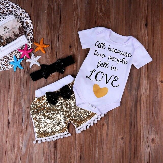 54f9cbee3 Kids Girls Clothing Rompers Newborn Baby Girl Short Sleeve Tops ...