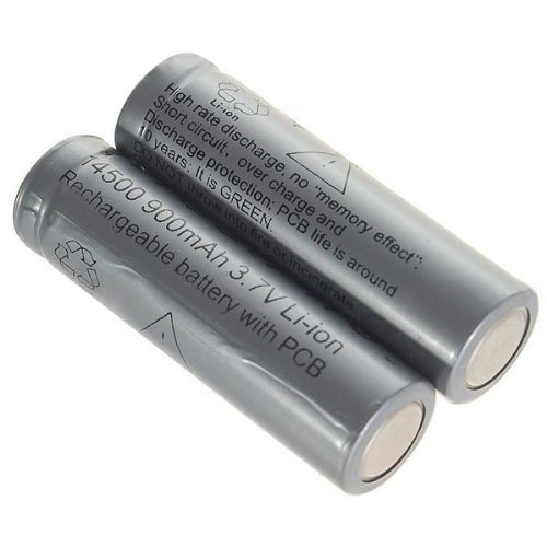 18pcs/lot TrustFire 14500 3.7V 900mAh Rechareable Battery Lithium Batteries with Protected PCB For Flashlight Torch ...