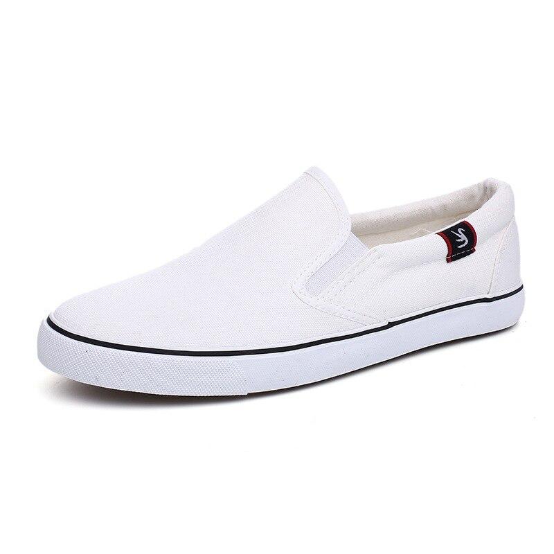 Supérieure Noir Qualité Mode Hommes Décontractées Slip résistant Classique white Confortable Black Respirants Vêtements on blanc Plates Chaussures De Toile wB4Z4fXq