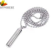 New Steel Cremation Jewelry Ash Urn Necklace Memorial Keepsake Vial Tube Pendant Necklaces Jewelry Accessories(China)