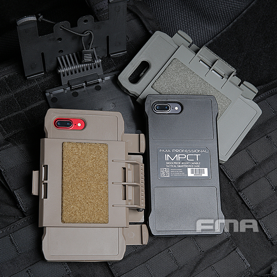 2019 New Tactics Accessories  FMA Iphone 7/8 Plus Mobile Pouch For Molle BK/DE/FG TB1320