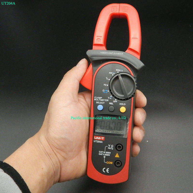 ФОТО Digital  Handheld Clamp multimeter UNI-T UT204A professional True RMS LCD Multifuction  Ohm DC AC Voltmeter AC Ammeter Data Hold