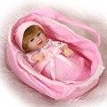 2015 Hot 28 CM Mini Brinquedos Macios Presente Meninas Do Bebê Silicone Bebê Reborn Bonecas Realistas De Silicone Recém-nascidos