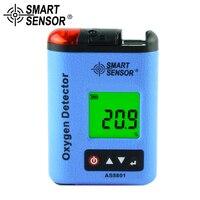 SMART SENSOR Riot газоанализатор кислорода O2 метр монитор детектор утечки газа тестер Звук Свет вибрации сигнализации 0 ~ 30% VOL