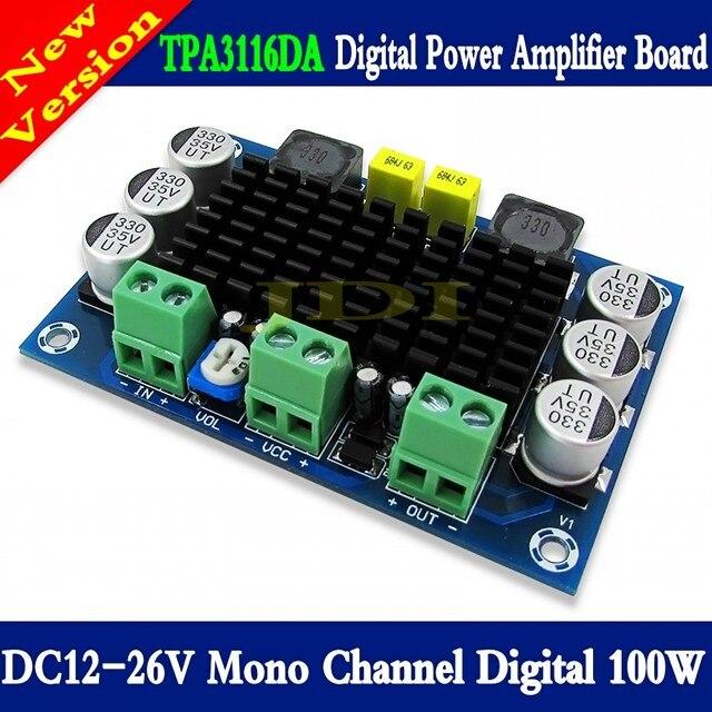 TPA3116 D2 Mono 100W Bộ Khuếch Đại Âm Thanh Kỹ Thuật Số Ban DC12 26V