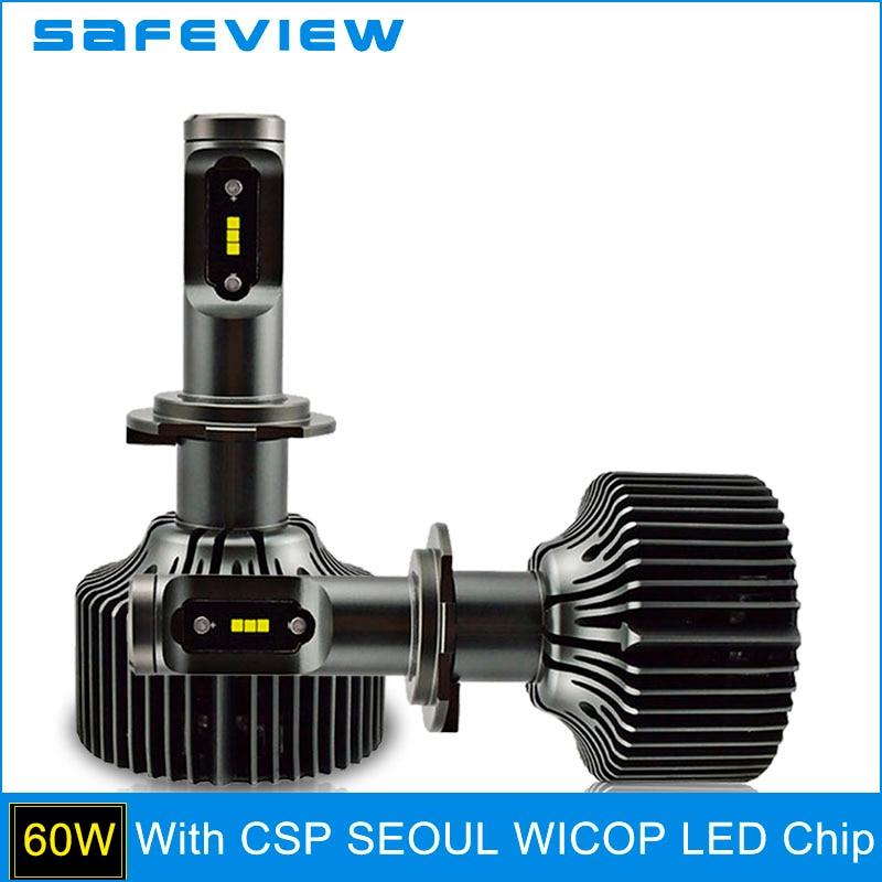 SAFEVIEW H7 светодио дный H4 5000 К фар автомобиля луковицы H8 H9 H11 HB3 9005 HB4 9006 D1S D2S D2R D3S d4S 9004 9007 30 Вт 6000 К Глава лампы накаливания
