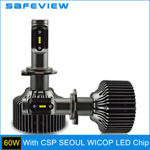 SAFEVIEW H7 LED H4 5000K Car Headlight Bulbs H8 H9 H11 HB3 9005 HB4 9006 D1S D2S D2R D3S D4S 9004 9007 30W 6000K head lamp bulbs