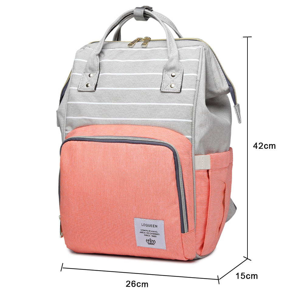 a3e325672d2d8 LEQUEEN Baby Diaper Bags New Fashion Striped Mummy Backpack Designer Nursing  Care Baby Bag for Mom. sku: 32900387811
