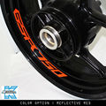 8 X CUSTOM INNER RIM DECALS WHEEL Reflective STICKERS STRIPES FIT SUZUKI GSR 750