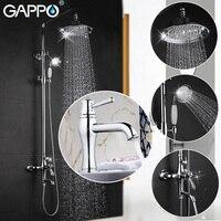 GAPPO Bathroom Shower Faucet Set Bronze Bathtub Mixer Shower Faucet Bath Shower Tap Waterfall Basin Faucet