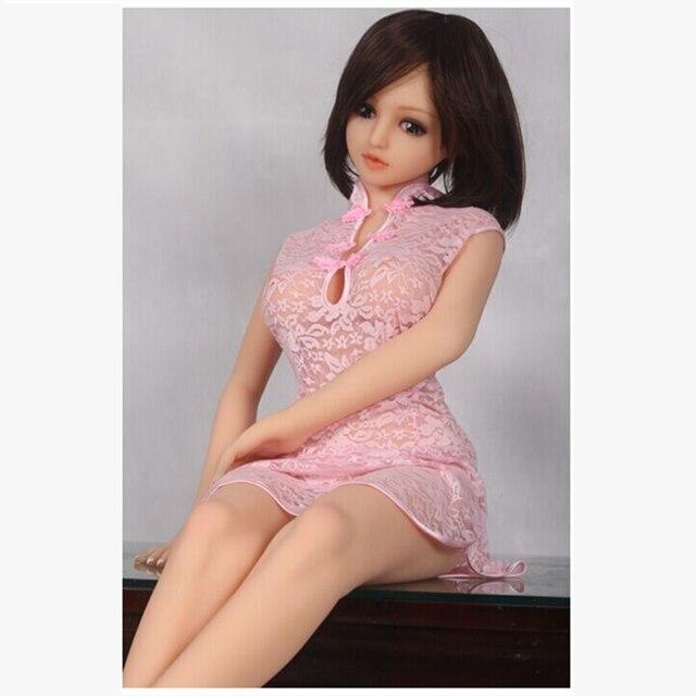 Tamanho cor de rosa cheongsam do laço de athemis para o tamanho feito à medida da boneca do silicone