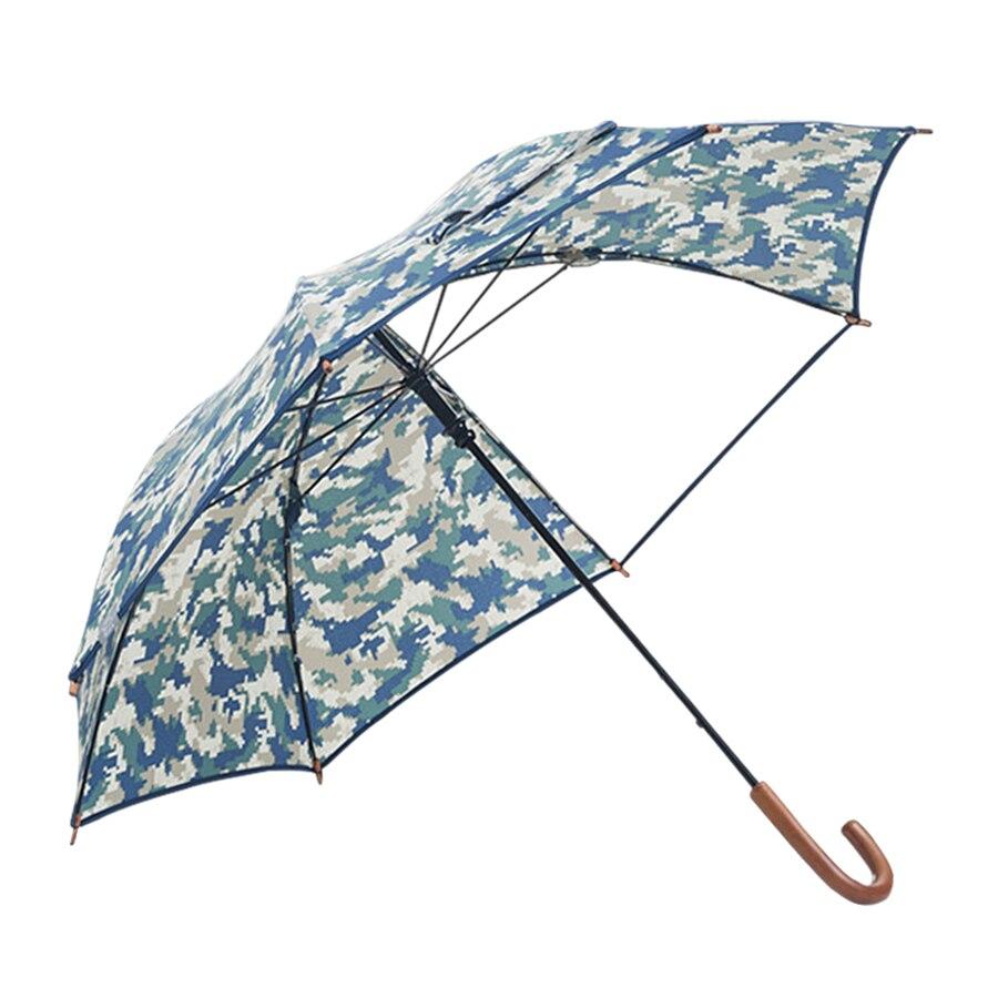 Enfants parapluie Transparent Long poignée couleurs Parasol clair parapluie enfants Knuckle laiton Umberlla Kinder Paraplu ombre de soleil 30KO080