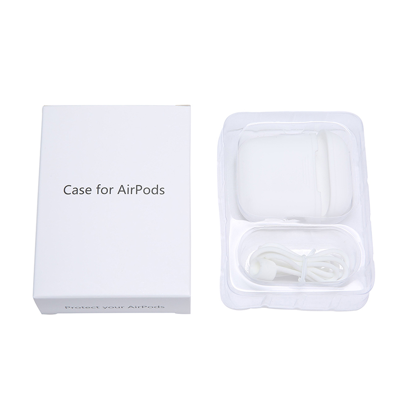 For Apple For Airpods Air pod Silicone Case Protective Container Storage Box Anti Lost Silicone Strap Loop Cable Accessories