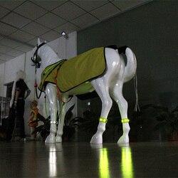 Led equestre leggings noite visível cavalo corrida equestre cheval paardensport equitação ao ar livre multi-cor opcional 1pcs t