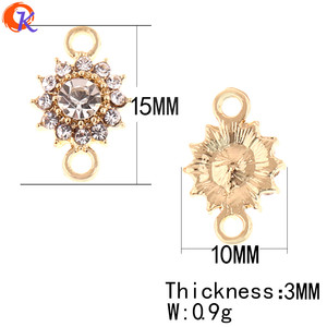 Image 4 - Cordial Design 100Pcs 10*15MM Jewelry Accessories/DIY Jewelry Making/Rhinestone Earring Connectors/Hand Made/Earring Findings