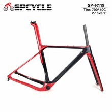 цены Spcycle Carbon Gravel Bicycle Frames T1000 Carbon Disc Brakes Cyclocross Frame Axle 142/135mm Carbon MTB Road Bike Frameset