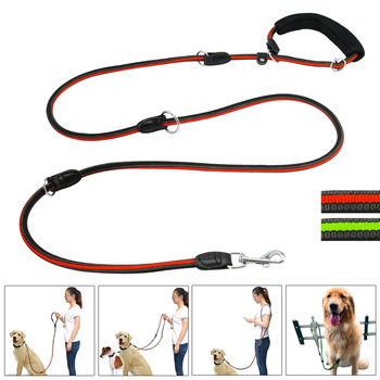 6 forma Multi-funcional Mãos Livres Heavy Duty Nylon Trela Do Cão Treinamento do animal de Estimação Coleira Para Cães de Médio e Grande Vermelho greeen