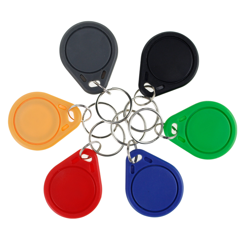 10pcs RFID Keytags 13.56 MHz Rfid Key Fobs Keychains NFC Tags ISO14443A MF Classic® 1k Nfc Access Control Keycard Token