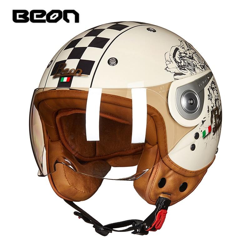 BEON vintage off road motocross men feminino motorcycle helmet vespa casco capacete open face capacetes motociclistas