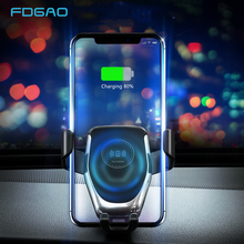 10W Qi Wireless Charger Car Mount Automatic Gravity Air Vent Phone Holder Fast Charging for iPhone 11 XS XR X 8 Samsung S20 S10