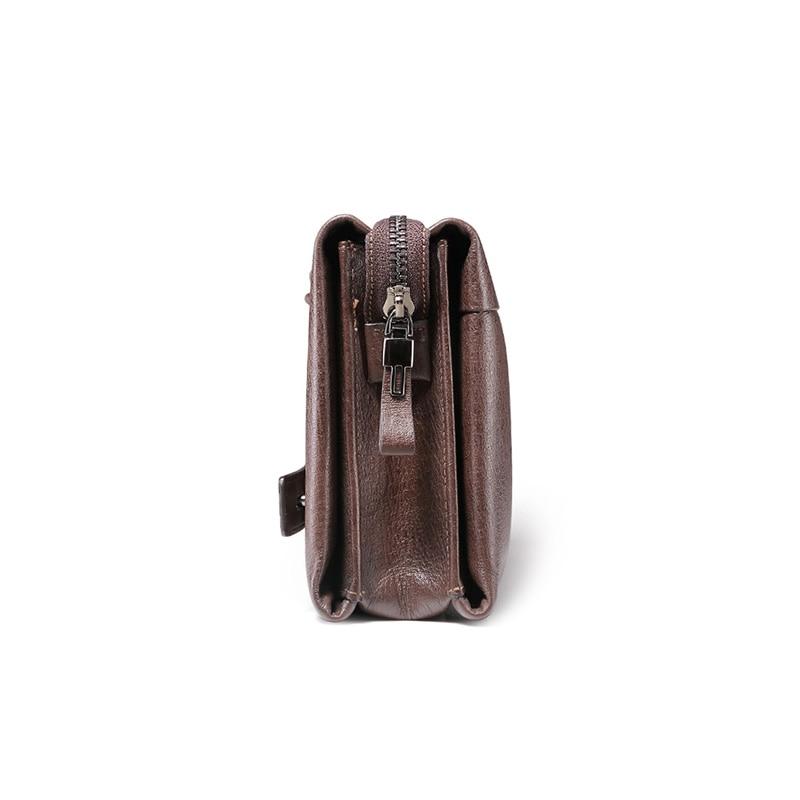 teemzone New Fashion män koppling väskor äkta läder hane totes - Plånböcker - Foto 3