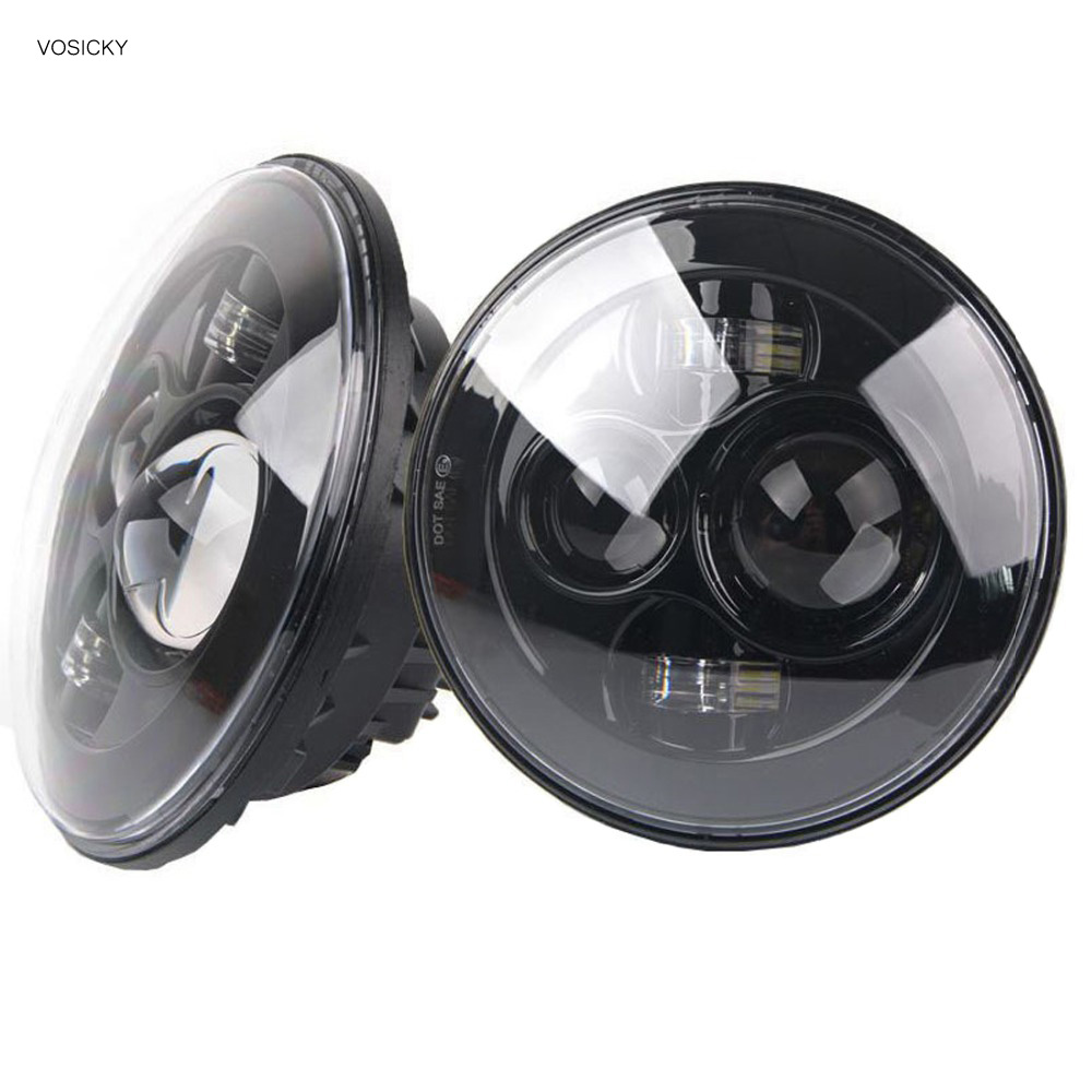 7 inch Round Headlights Led Daymaker For Jeep Wrangler 97-15 Hummer Toyota Defender Motorcycle Headlamp For Harley vosicky 7 inch round headlights led daymaker with bracket ring for jeep wrangler 97 15 hummer toyota motorcycle headlamp
