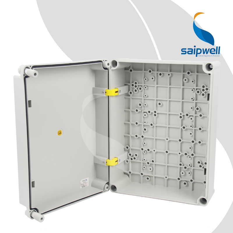 300*400*160mm Built-in Hinge Type PC Waterproof Box with Plastic Screw Design SP-PC-304016 цены