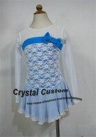Лидер продаж синий фигурное катание платье горячее предложение бренд Катание на коньках платье для конкурса индивидуальные dr3148