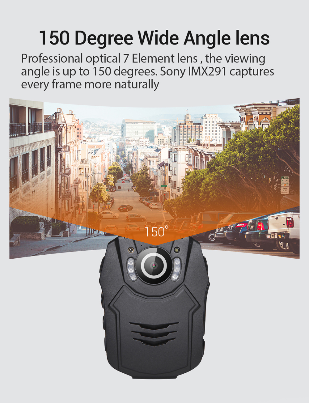 BOBLOV PD50 Police Body Camera Recorder HD 1296P Politie Camera de corpo Infrared Night Vision Worn Policia Camera Body Camara in Surveillance Cameras from Security Protection