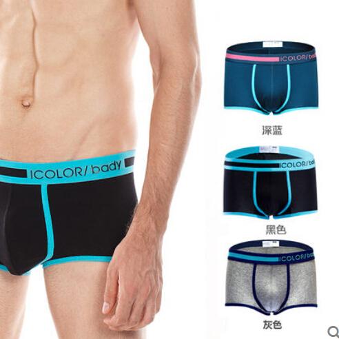 3 unidades de un lote de los hombres underwear underwear puro algodón suave y transpirable de los hombres todo el color entrega al azar