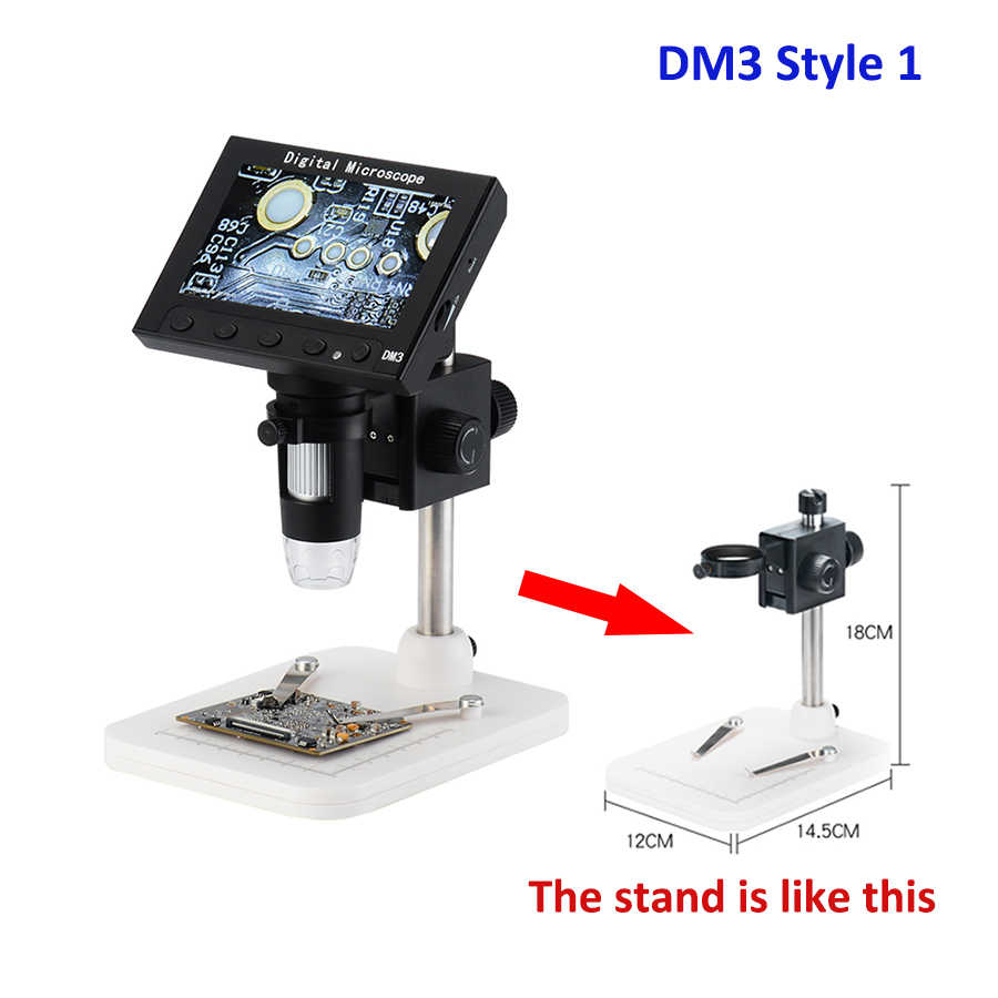 600X Digital Electronic Microscope Camera with LCD Display 3.5 inch Video USB Microscope Magnifier HD 200W Pixels