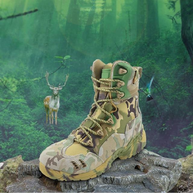 Botas militares de seguridad para hombre calzado t ctico de verano para el desierto impermeable Zapatos