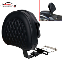 Motorcycle Parts Detachable Adjustable Plug in Driver Rider Backrest Pad Kit for Harley Fatboy Fat boy Softail 2007 2017 #MBJ121