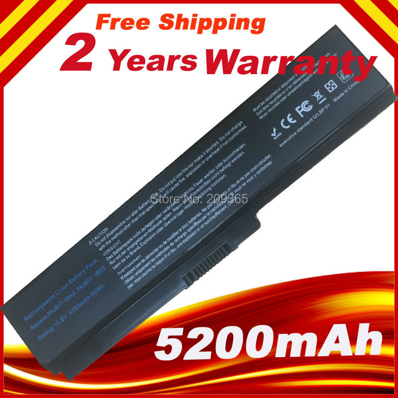NEW 6Cell Laptop Battery for Toshiba Satellite L755 L755D L770 L770D PA3817U-1BRS