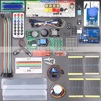 Free Shipping UNO R3 KIT Upgraded Version Of The Starter Kit The RFID Learn Suite LCD