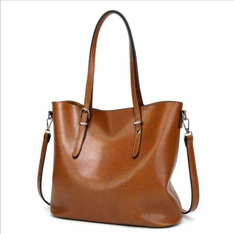 100% Echt leer Vrouwen handtassen 2019 Nieuwe handtassen Europa en de Verenigde Staten eenvoudige schouder Messenger handtassen