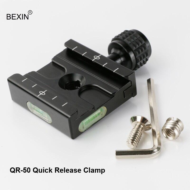 BEXIN QR-50 Alumīnija burbulīšu līmenis Kameras statīvs Ātrā - Kamera un fotoattēls