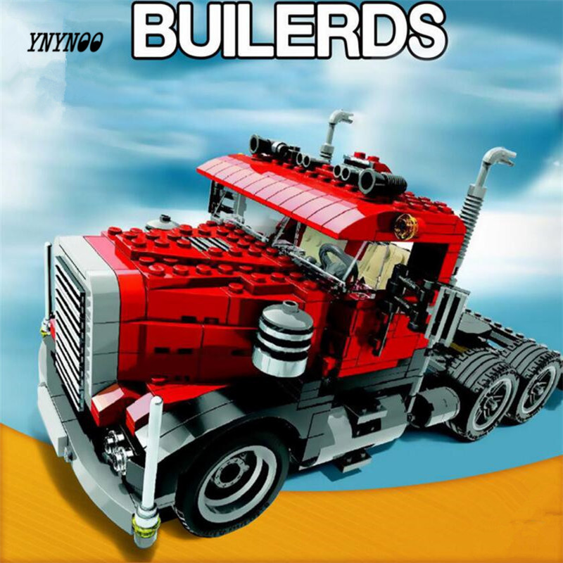 YNYNOO Lepin 24023 Creative Changing Series 3 in1 Truck Set Children Educational Building Blocks Bricks Toys Model Gift in stock lepin 02012 774pcs city series deepwater exploration vessel children educational building blocks bricks toys model gift