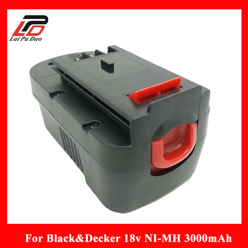 18V Ni-MH 3000mAh Replacement Power Tool Battery for Black&Decker:HPB18, FS180BX, 244760-00, A18