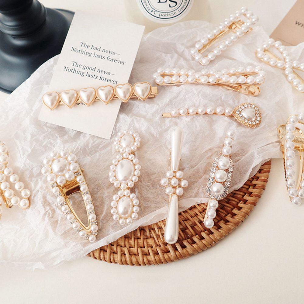 1pcs Korea Fashion Pearls Hair Clip Elegant Barrettes For Women And Girls Vintage Pearl Flowers Hairpins Hair Accessories
