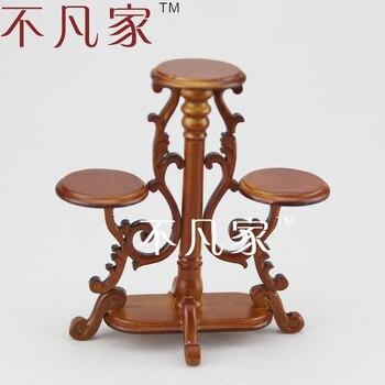 цена на Fine dollhouse 1/12 scale miniature furniture beautiful luxurious flower stand