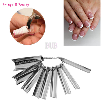 Easy French Tips Smile Line Pink & White Cut Nail Art UV Gel Acrylic Essenial Tools 9 Sizes Cutter Edge Trimmer Template