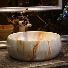 Antique Handmade Europe Vintage Style Lavobo Ceramic Bathroom Countertop Bathroom  Sink European Bathroom Sinks(China