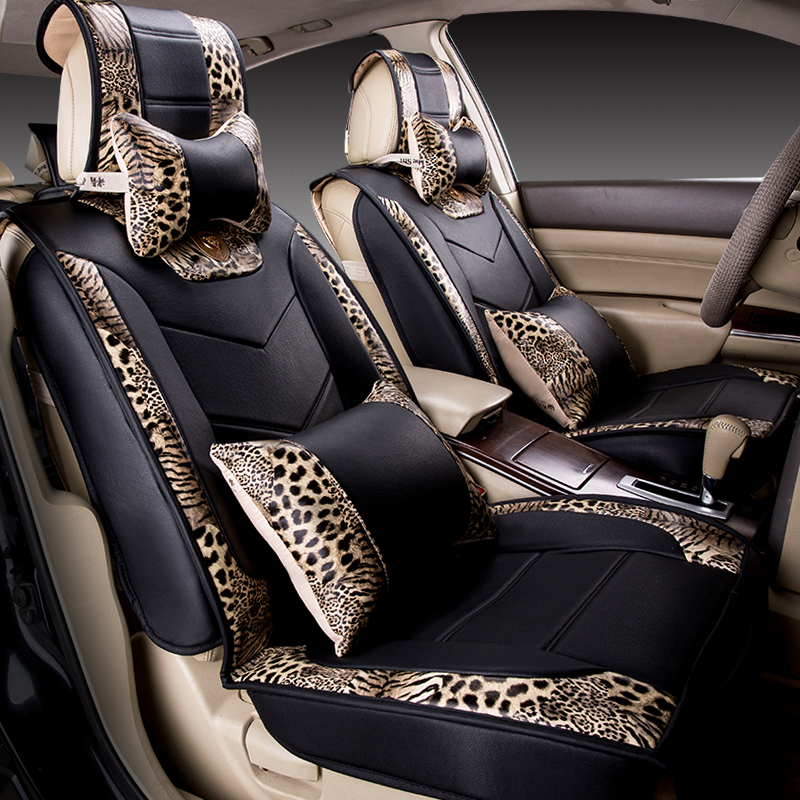 auto sitzbezug styling leopard senioren leder auto. Black Bedroom Furniture Sets. Home Design Ideas