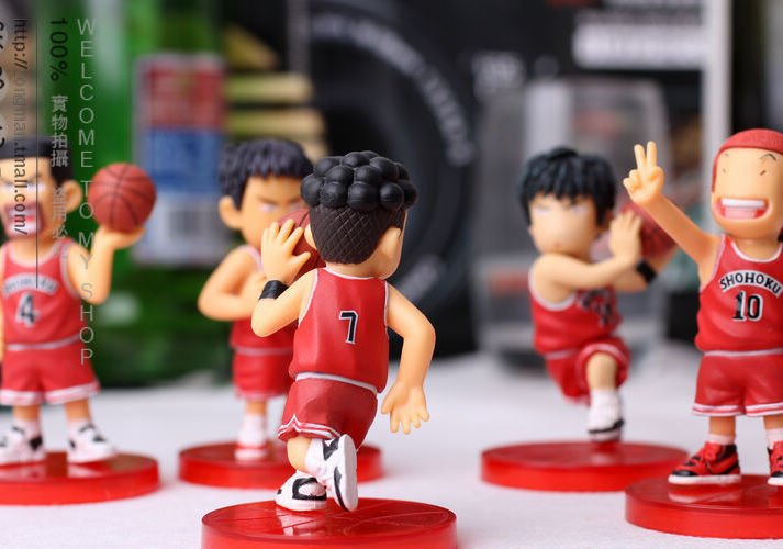 Free Shipping 3 Inch Slam Dunk Shohoku Basketball Player Anime Figures Set Of 5pcs image