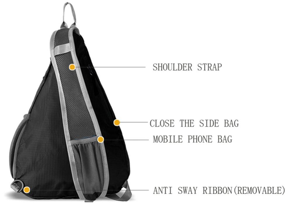 Сән One Shoulder Backpack Ашық Үшбұрыш Тренді - Спорттық сөмкелер - фото 4