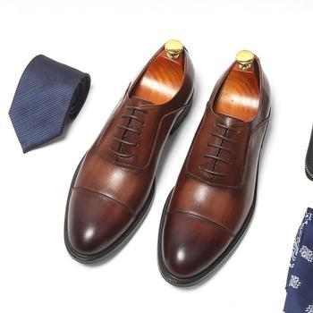 Men Shoes Genuine Leather Flats Business Formal Men Dress Shoes Spring Autumn Oxfords Luxury Fashion leisure wedding shoes