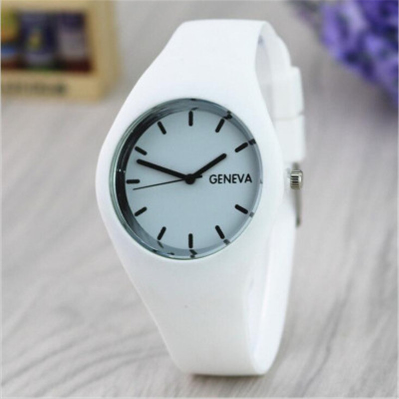 Fashion Silicone GENEVA women's Watches Thin Women Dress Quartz Watch Girls simple style Wrist Watch Relogio Feminino 2017 clock hot sales geneva brand silicone watches women ladies men fashion dress quartz wristwatches relogio feminino gv008